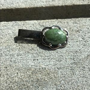 Green Opal Tie/Money Clip